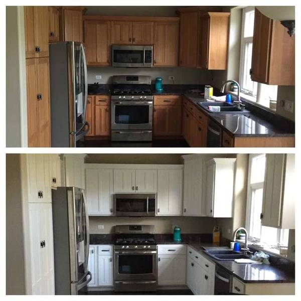 Before and After Cabinet Painting in Naperville, IL (1)